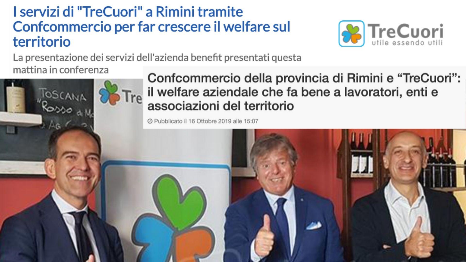 I servizi di TreCuori a Rimini con Confcommercio