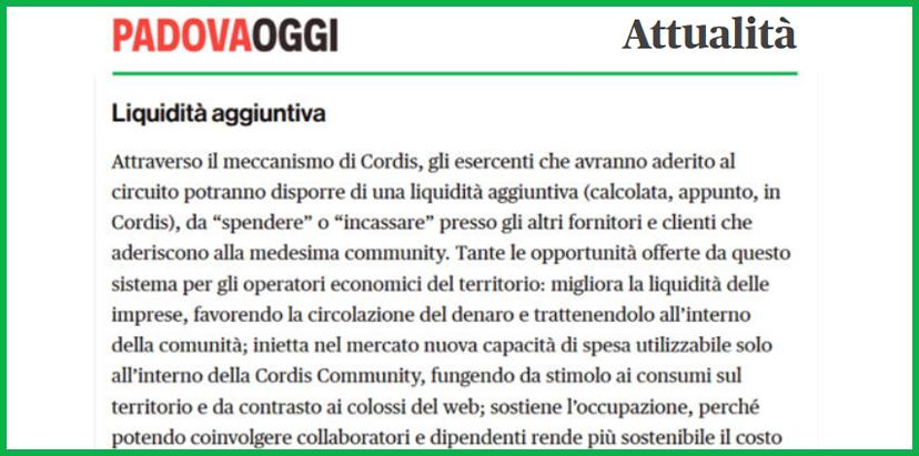 """Appe: anche bar e ristoranti del Padovano entrano nel circuito """"Cordis"""""""