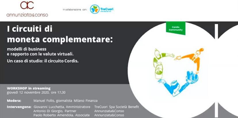 Anche i professionisti studiano la Cordis Community: webinar organizzato dal network legale Annunziata&Conso