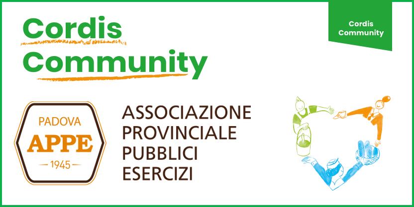 Da oggi il mondo dei pubblici esercizi ancora più presente nella Cordis Community