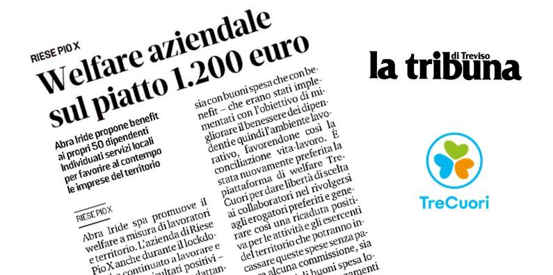 LA TRIBUNA – Welfare aziendale, sul piatto 1.200 Euro