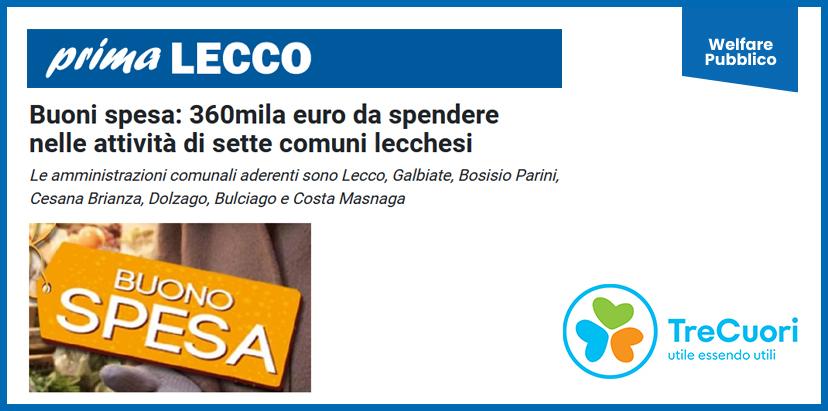 prima LECCO – Buoni spesa: 360mila euro da spendere nelle attività di sette comuni lecchesi