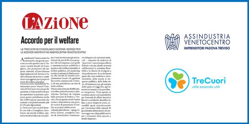 L'AZIONE – TreCuori gestirà i servizi per le aziende aderenti ad ASSINDUSTRIA VENETOCENTRO