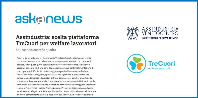 ASKANEWS – ASSINDUSTRIA: scelta piattaforma TreCuori per welfare lavoratori