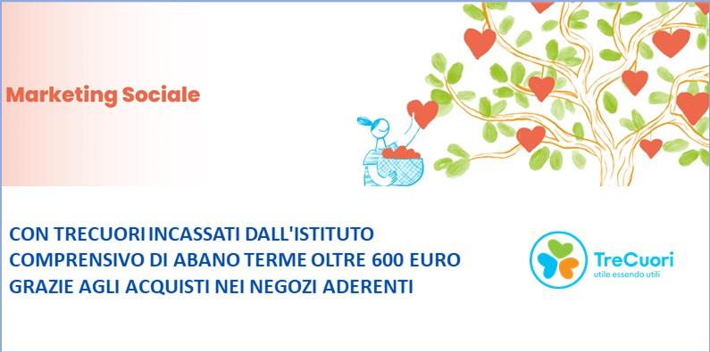 Un nuovo incasso di contributi TreCuori per l'istituto comprensivo di Abano Terme