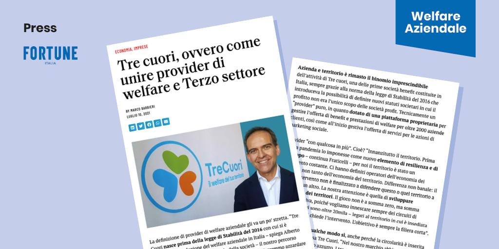 FORTUNE – TreCuori, ovvero come unire provider di welfare e Terzo settore