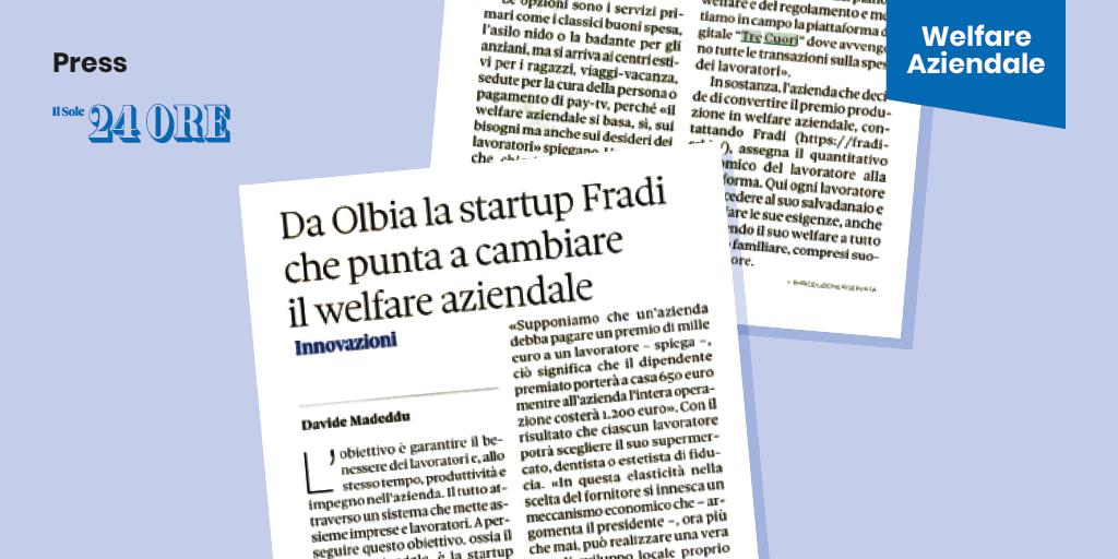 IlSole24Ore – Da Olbia la start-up Fradi che punta a cambiare il Welfare Aziendale